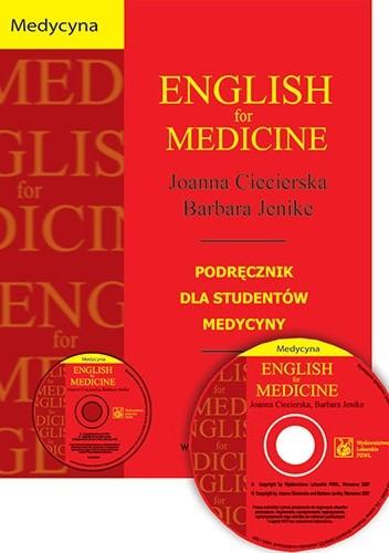 Okładka książki English for medicine. Płyta CD