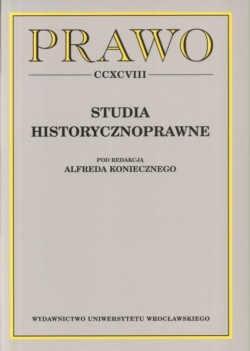 Okładka książki Studia historycznoprawne. Prawo CCXCVIII