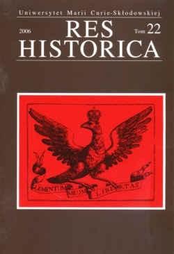 Okładka książki Res Historica. Tom 22.