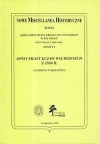 Okładka książki Opisy miast Kujaw Wschodnich z 1860 r.