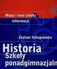 Okładka książki Historia. zestaw foliogramów. Szkoła ponadgimnazjalna. Segregator