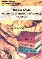 Okładka książki Analiza źródeł na maturze ustnej i pisemnej z historii