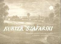 Okładka książki Kuryer Szafarski /Wakacyjna gazeta fryderyka chopina z sierpnia - września 1824r.