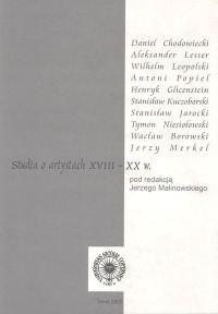 Okładka książki Studia o artystach XVIII - XX w.