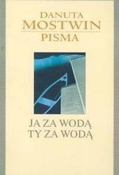 Okładka książki Ja za wodą ty za wodą