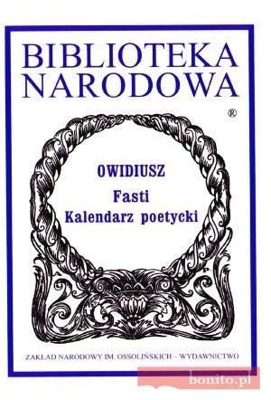 Okładka książki Fasti. Kalendarz poetycki