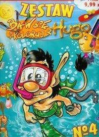 Okładka książki Baw się i koloruj z Hugo 4 zestaw