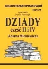 Okładka książki Dziady cz.2 i 4 - opracowanie zeszyt 19