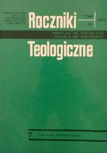Okładka książki Roczniki Teologiczne 1993, tom XL, zeszyt 7. Teologia Ekumeniczna