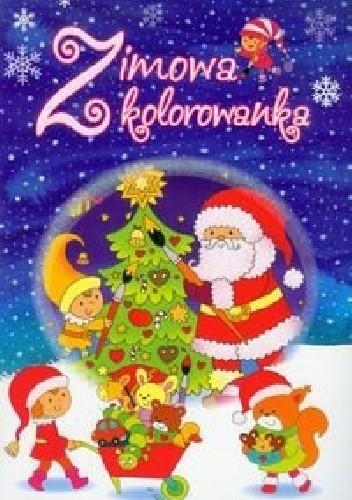 Okładka książki Zimowa kolorowanka
