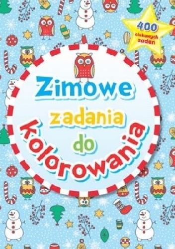 Okładka książki Zimowe zadania do kolorowania