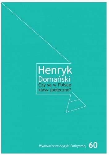 Okładka książki Czy są w Polsce klasy społeczne?