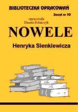 Okładka książki Nowele Sienkiewicza - opracowanie zeszyt 70