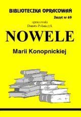 Okładka książki Nowele - Konopnicka - opracowanie zeszyt 69
