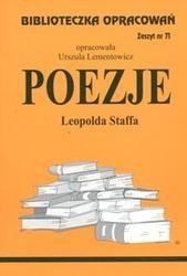 Okładka książki Poezje - Staff - opracowanie zeszyt 71