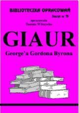 Okładka książki Giaur - opracowanie zeszyt 75