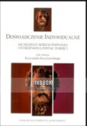Okładka książki Doświadczenie indywidualne