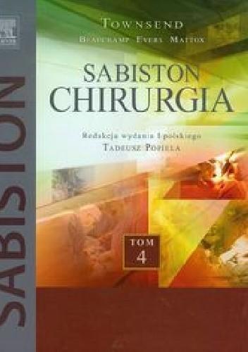 Okładka książki Sabiston Chirurgia Tom 4