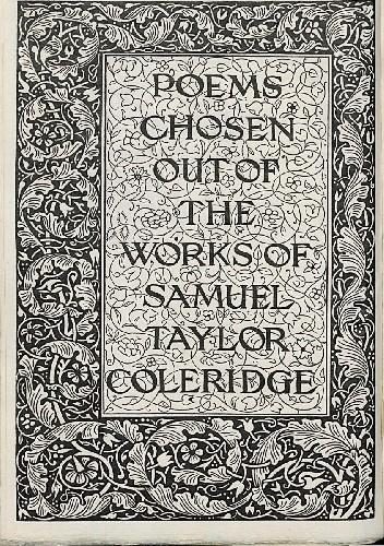 Okładka książki Poems Chosen Out Of the Works Of Samuel Taylor Coleridge