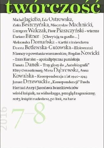 Okładka książki Twórczość nr 7-8 / 2016