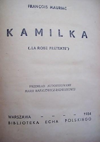 Okładka książki Kamilka