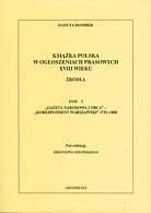 Okładka książki Książka polska w ogłoszeniach prasowych XVIII wieku. t.5