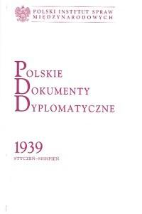 Okładka książki Polskie dokumenty dyplomatyczne 1939