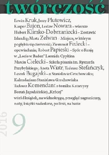Okładka książki Twórczość nr 9 - 2016
