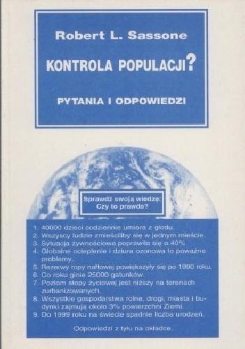 Okładka książki Kontrola populacji. Pytania i odpowiedzi