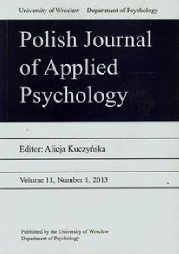 Okładka książki Polish Journal of Applied Psychology 11/2013