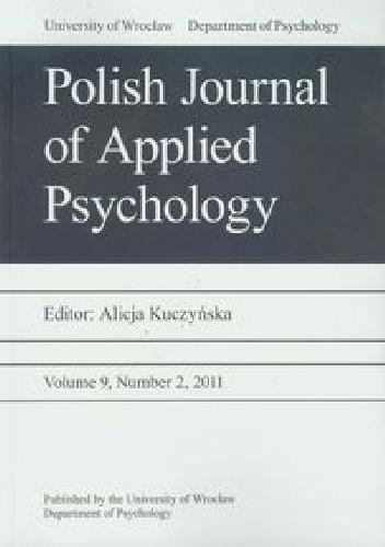 Okładka książki Polish Journal of Applied Psychology 2/2011