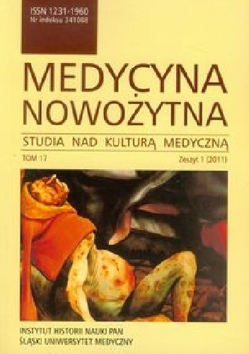 Okładka książki Medycyna nowożytna Tom 17 Zeszyt 1/2011