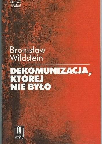 Okładka książki Dekomunizacja, której nie było