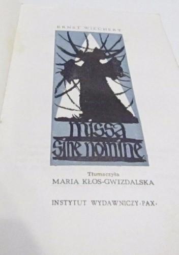 Okładka książki Missa sine nomine