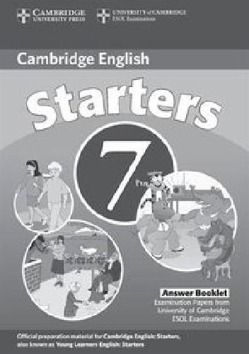 Okładka książki Cambridge English Starters 7 Answer Booklet