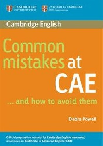 Okładka książki Common Mistakes at CAE and how to avoid them