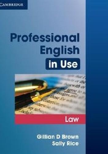 Okładka książki Professional English in Use Law