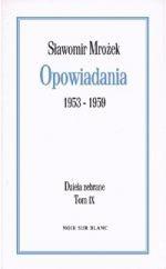 Okładka książki Opowiadania 1953-1959