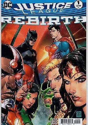 Okładka książki Justice League: Rebirth #1