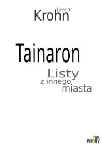 Okładka książki Tainaron. Listy z innego miasta