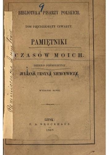 Okładka książki Pamiętniki czasów moich