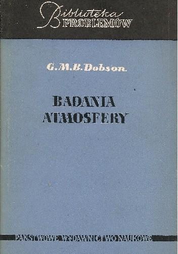 Okładka książki Badania atmosfery