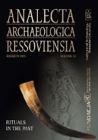 Analecta Archaeologica Ressoviensia. Rituals in the past