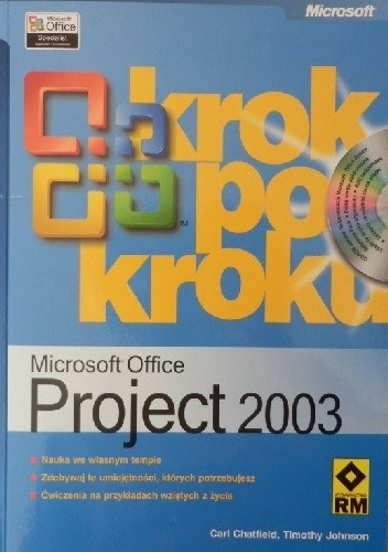 Okładka książki Microsoft Office Project 2003 krok po kroku
