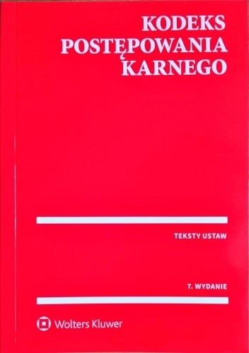Okładka książki Kodeks postępowania karnego
