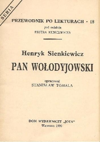 Okładka książki Henryk Sienkiewicz. Pan Wołodyjowski