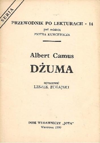 Okładka książki Albert Camus. Dżuma