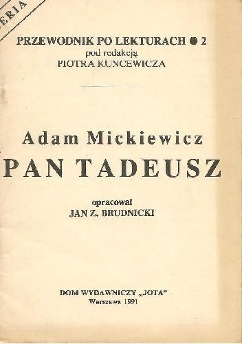Okładka książki Adam Mickiewicz. Pan Tadeusz