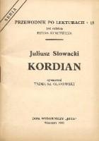 Juliusz Słowacki. Kordian