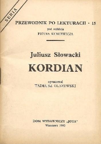 Okładka książki Juliusz Słowacki. Kordian